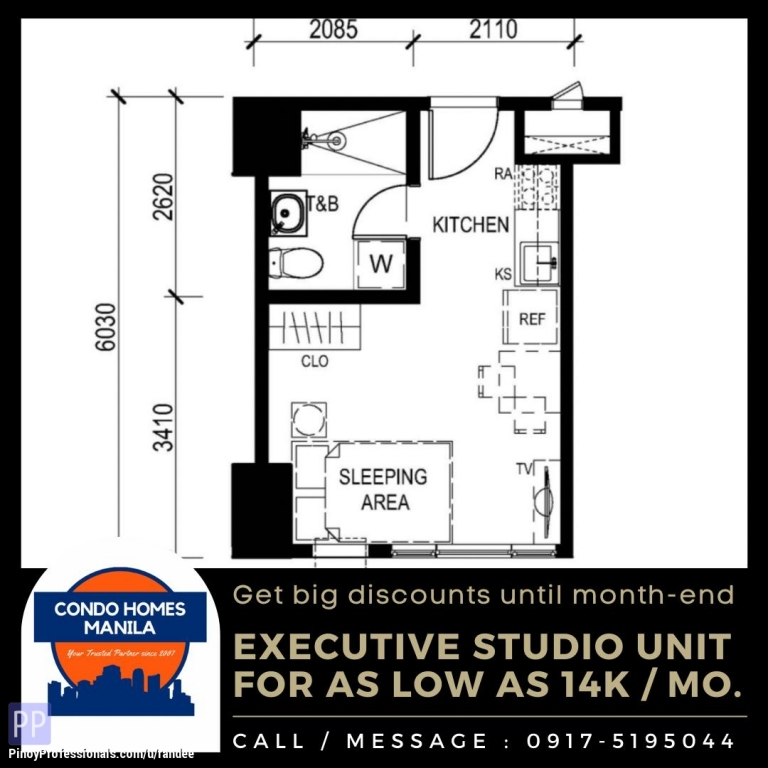 Apartment and Condo for Sale - Studio Condo Unit in Shaw Blvd near Greenfield District-Unilab and Ortigas CBD. No DP promo! As low as 14K monthly!