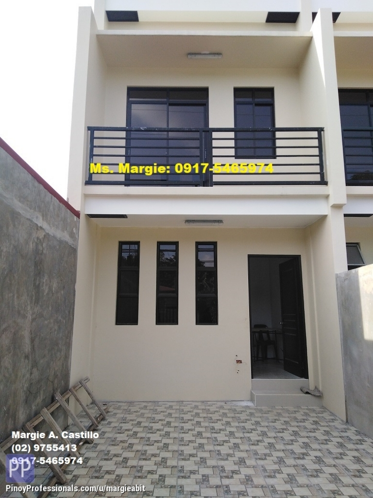 House for Sale - BRAND NEW 4BEDROOMS, 2T&B, 1CARPORT ZEN TOWNHOUSE RANCHO3 ESTATE. NEAR MARIST SCHOOL & SM MASINAG. FLOOD SAFE!