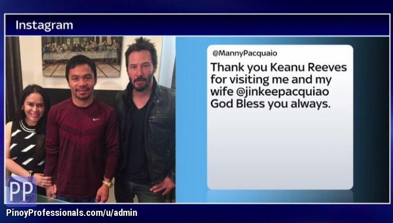 Sports - Keanu Reeves visits Pacman...