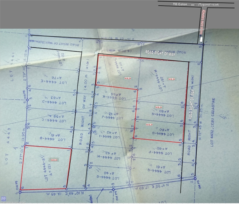 Land for Sale - Titled LOT in Tagonol Pardo for sale lot sizes from 40sqm and up good for residential house, or appartment